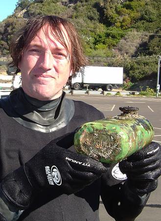 Phil found a vintage brass Seagull gas tank, circa 1940-1950.
