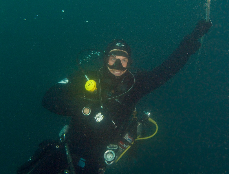 2011-09-18<br /> Charlie Bartleson on the anchor line