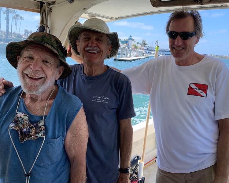 2020-07-03<br /> Captain Andy Saxon, Jack Baldelli, Phil Garner<br /> After a day on the rock piles in Santa Monica Bay