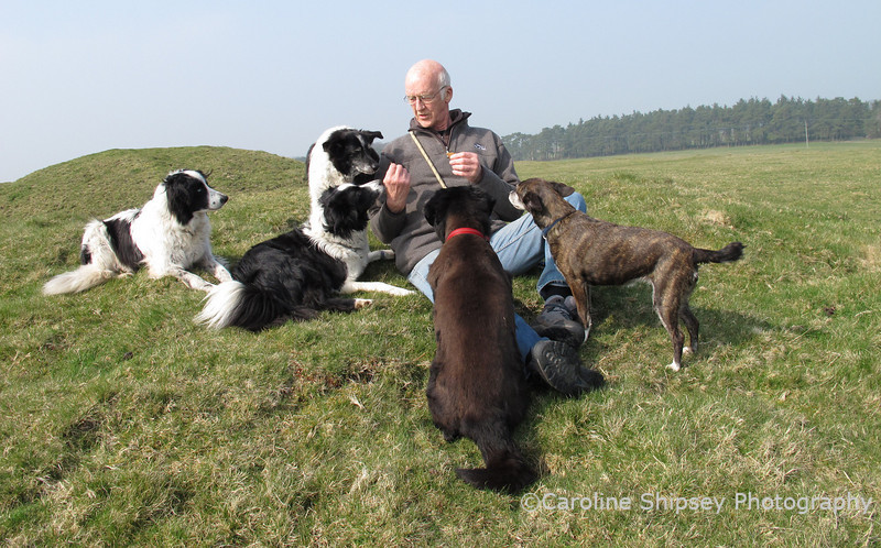 27th March<br /> Time for a quick snack on Ashen Hill Barrows, Priddy.