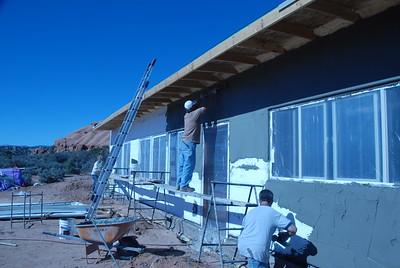 Overhang allows full sun in October