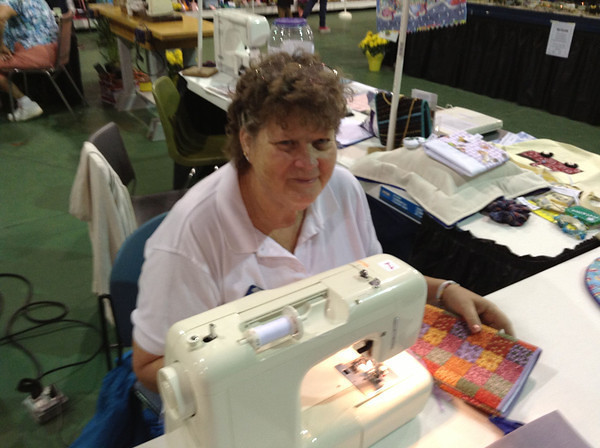 Kathy P. captured lots of interest during her Volunteer Shift at the ASG booth at the 2013 Manatee County Fair.