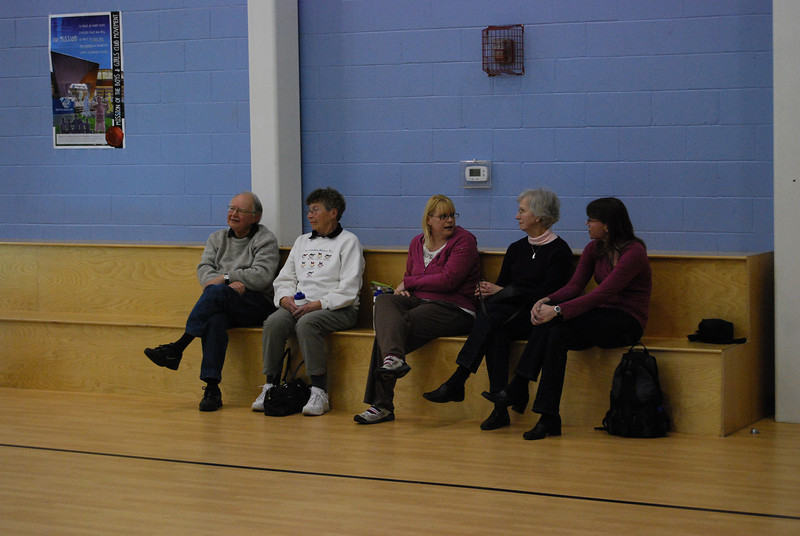 The peanut gallery - Dave's dad, Cathy, Mary, Dave's mom, and Anne.
