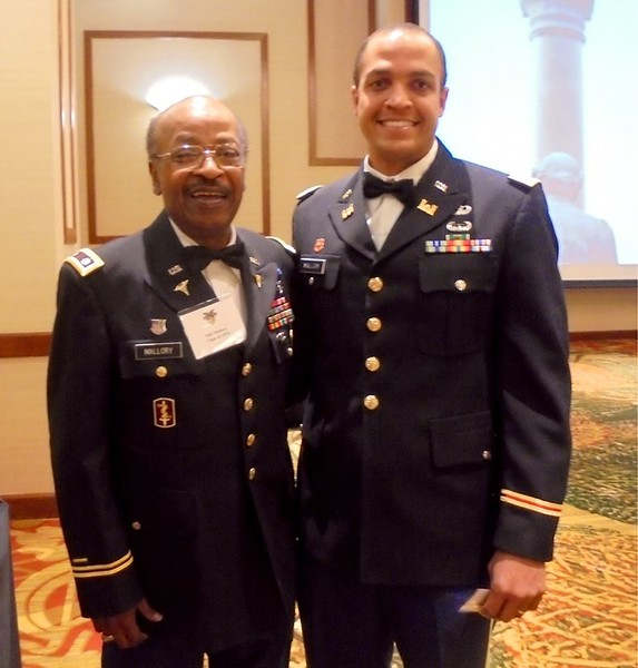 Phil Mallory (A-3) with son Aaron (USMA 2012)