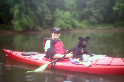 Kayaking on the Youghiogeney River.