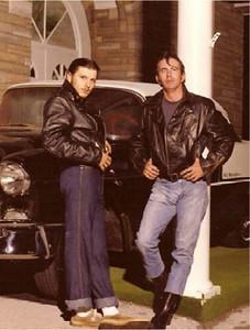 Estes (right), Roger Myers (left) - 1975.  Taken in front of Shiloh Baptist Church, Kingston TN