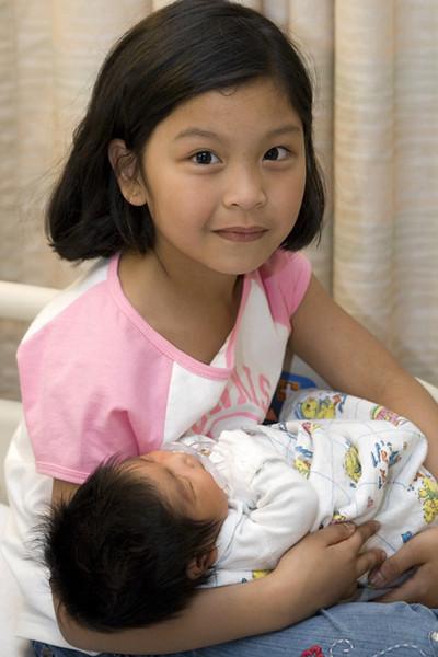 Ate Keisha and baby
