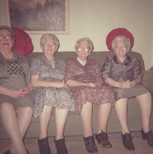 Girlie, Alma, Ruth and Clara