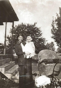 Mary Eddington and Baby Girl Margaret Ann_Boye's Buggy