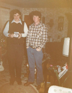 Dan and Rich Schleyhahn; Christmas 1979