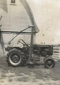 Grandpa Fraase's Allis Chalmers B Tractor for Cutting Hay