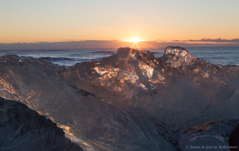 Sunset On Ice
