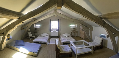 Children,s attic room  4 with 4 single beds