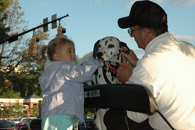 """Sydney and her new pal """"Ivine"""" who helped us around downtown Chattanooga in a carriage ride."""