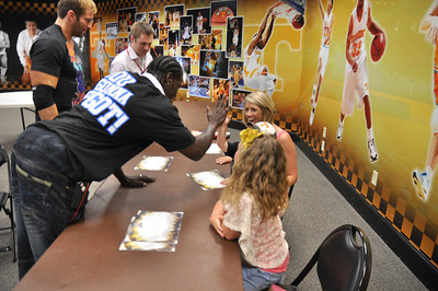 Kids getting to meet WWE Superstars R Truth and Zach Ryder!