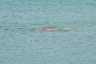 Sabrina snorkeling......