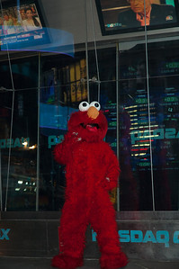 Elmo in front of the Nasdaq building.....not sure why.