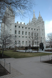 The Temple.  Took over 40 years for the Mormon's to build using granite from the mountains, led by Brigham Young.