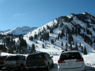 From the parking lot of Alta's Ski Resort