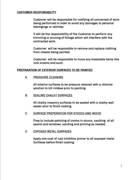 General Painting Specifications (page 2)