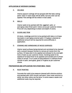 General Painting Specifications (page 4)