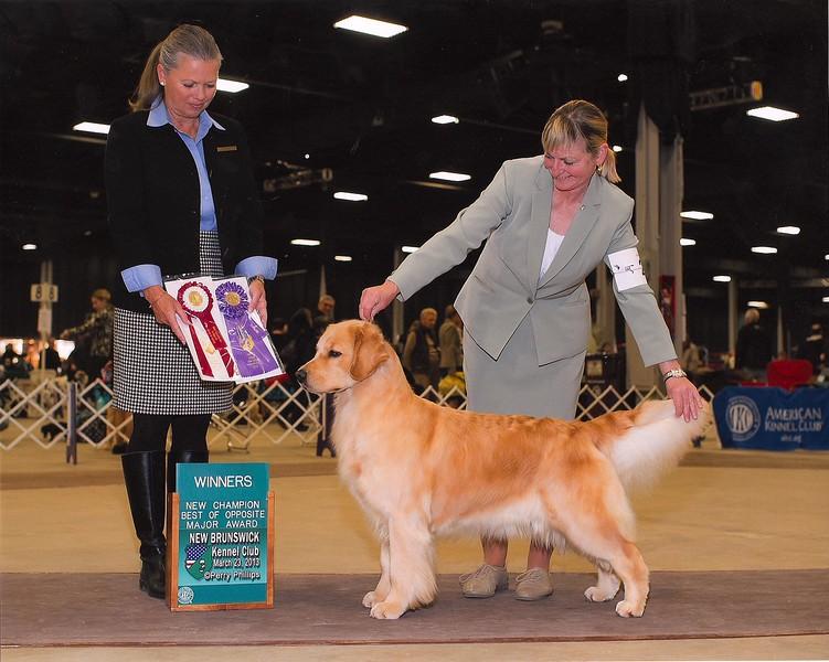 CeeCee finishing her championship with Diana Mason
