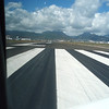 On the runway...