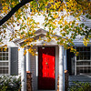 Eventually I painted this ole front door Red....I always wanted a red front door.  It was SPECTACULAR