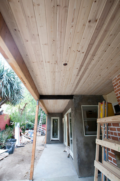 wood ceiling on breezeway 1