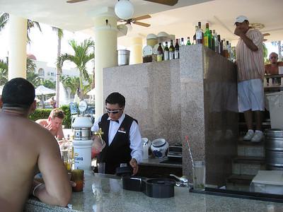 Ubaldo - our favorite bartender.