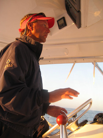 Captain Chuck says he will take us to where the fish are