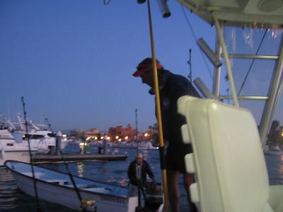 captain chuck preparing the reels