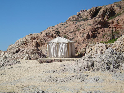 This little hut is where we got out massages on the first night