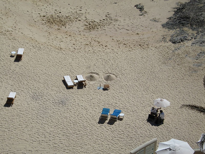 We had a great view of the sand-boobies from our balcony.  Solid.