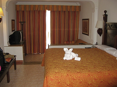 Little bunny to welcome us to the room.