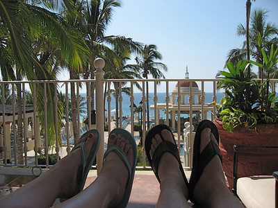 Our toes - great background.