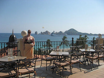 Kate on the terrace at La Ventana bar.