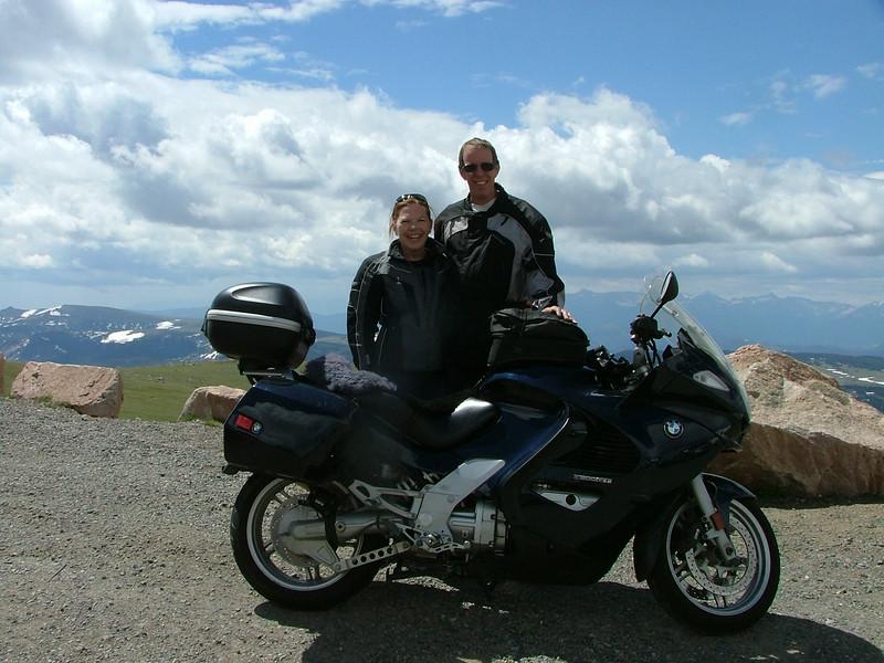 We were having a fantastic time riding together on the K bike.