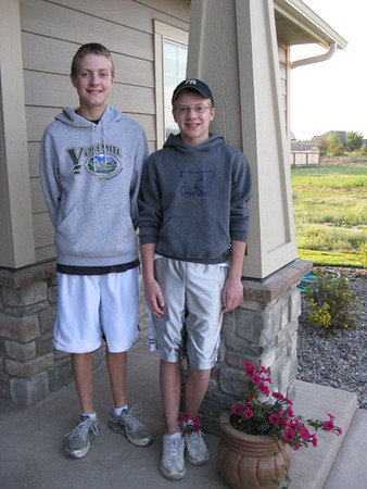 Nathan & Riley Connell  1st day of School 2009 Kalispell, Montana