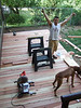 All the deck boards are in!  Woo-Hooo!