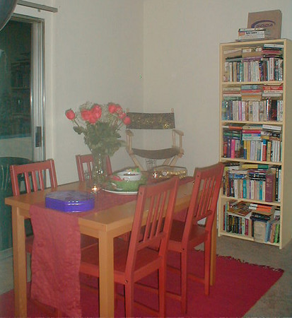 Red Chairs!We now have three new ones including a corner piece, that fill in that corner.
