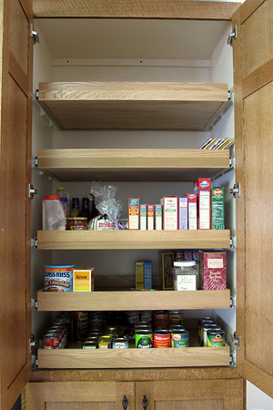 Pantry with pull-out shelves