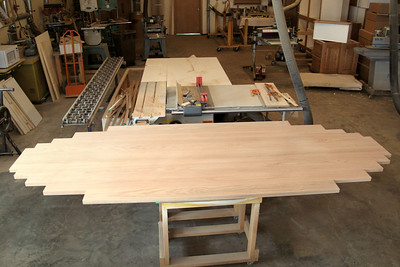 Oak glued for conference table top