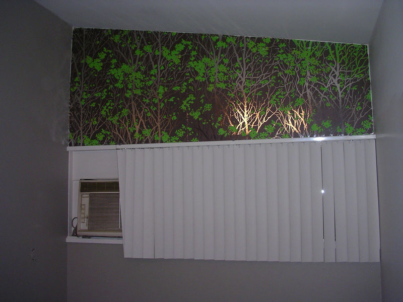 Can you believe this sexy wallpaper came with the house!