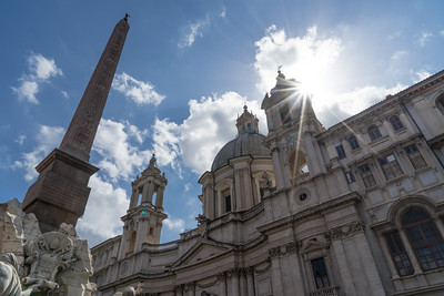 View of Sant'Agnese in Agona