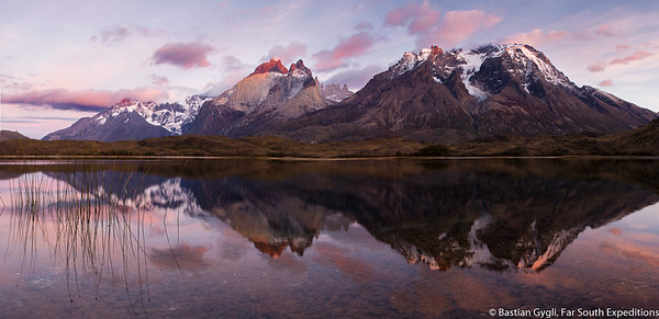 Sunrise at Paine Massif, Torres del Paine, Chile © Bastian Gygli, Far South Exp
