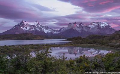 Sunrise at Paine Massif, Patagonia, Chile © Bastian Gygli, Far South Exp