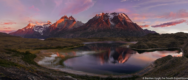 Sunrise, Torres del Paine NP, Chile © Bastian Gygli, Far South Exp