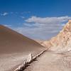 Trail, Valle de la Luna - Moon Valley, Atacama Desert, Chile