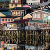 Stilt houses, locally known as 'palafitos', Castro